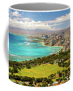 Panorama - Waikiki, Honolulu, Oahu, Hawaii Coffee Mug