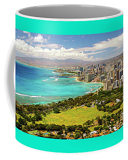 Coffee Mug featuring the photograph Panorama - Waikiki, Honolulu, Oahu, Hawaii by D Davila