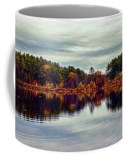 Coffee Mug featuring the photograph Panoramic Autumn Landscape by Lilia D