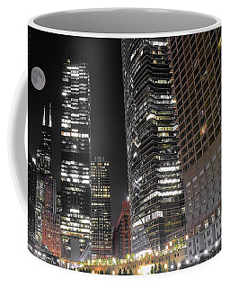 Panoramic Lakefront View In Chicago Coffee Mug by Frozen in Time Fine Art Photography