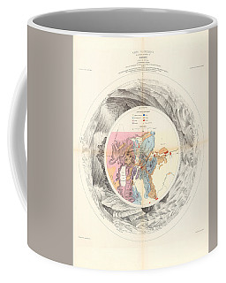Panoramic Map Of Washoe, Nevada - Carte Panoramique - Historic Map - Old Atlas - Geological Chart Coffee Mug