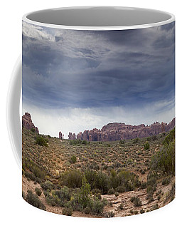 Panoramic View At Arches National Park Coffee Mug