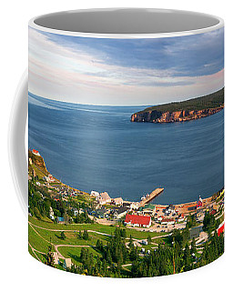 Coffee Mug featuring the photograph Panoramic View In Perce Quebec by Elena Elisseeva