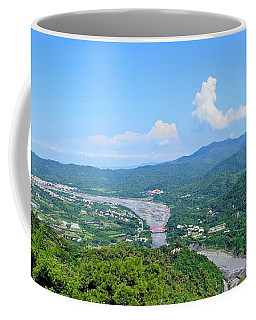 Coffee Mug featuring the photograph Panoramic View Of Southern Taiwan by Yali Shi