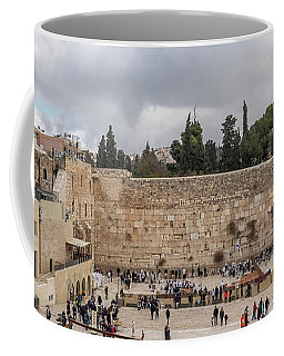 Panoramic View Of The Wailing Wall In The Old City Of Jerusalem Coffee Mug
