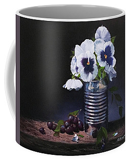 Pansies In A Can Coffee Mug