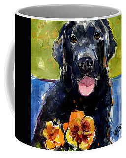 Coffee Mug featuring the painting Pansies by Molly Poole