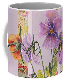 Pansies On My Porch Coffee Mug by Mary Ellen Mueller Legault
