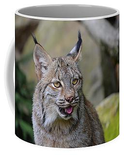 Panting Lynx Coffee Mug