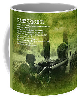 Coffee Mug featuring the digital art Panzerfaust In Action by John Wills