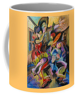 Coffee Mug featuring the pastel Papa And Bambino by Donna Hall