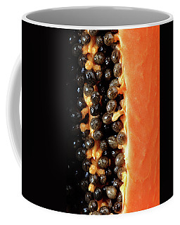 Papaya Fruit Halved Macro Coffee Mug