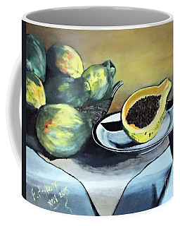 Papaya Still Life Coffee Mug by Francine Heykoop
