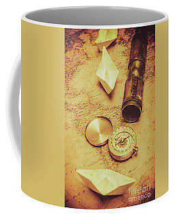 Paper Cargo Boats And Shipping Routes Coffee Mug