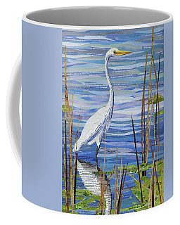 Coffee Mug featuring the mixed media Paper Crane by Shawna Rowe