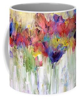 Paper Flower Painting Coffee Mug