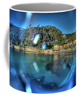 Coffee Mug featuring the photograph Paraggi Beach Portofino Park Passeggiate A Levante by Enrico Pelos