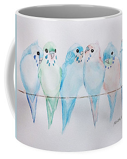 Parakeets Coffee Mug by Edwin Alverio
