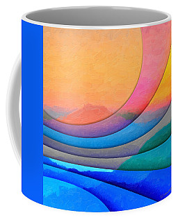 Parallel Dimensions - The Sacred Mountain Coffee Mug by Serge Averbukh