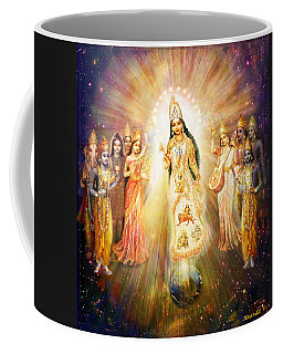 Parashakti Devi/ The Great Mother Goddess In Space Coffee Mug by Ananda Vdovic