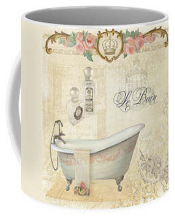 Parchment Paris - Le Bain Or The Bath Chandelier And Tub With Roses Coffee Mug