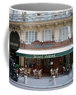Coffee Mug featuring the photograph Paris Cafe Bistro - Galerie Vivienne - Paris Cafes Bistro Restaurant-paris Cafe Galerie Vivienne by Kathy Fornal