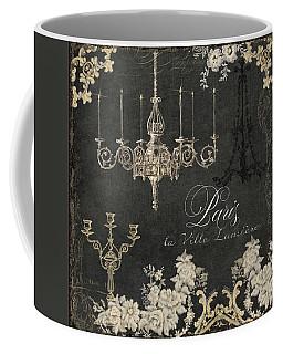 Paris - City Of Light Chandelier Candelabra Chalk Coffee Mug