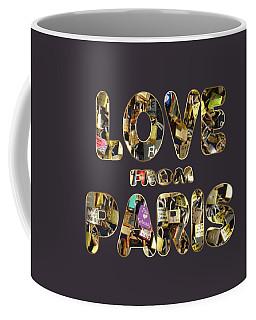 Paris City Of Love And Lovelocks Coffee Mug by Georgeta Blanaru