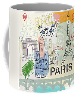 Paris Cityscape- Art By Linda Woods Coffee Mug