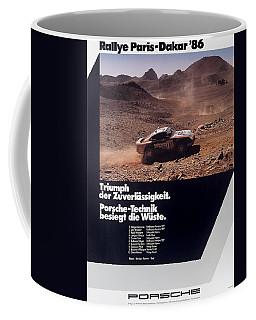 Paris Dakar Rally Porsche 1986 Coffee Mug