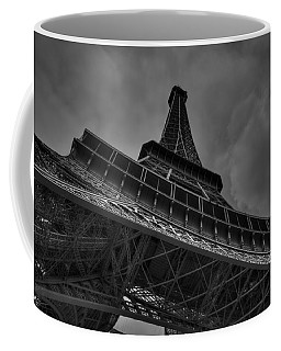 Coffee Mug featuring the photograph Paris - Eiffel Tower 001 Bw by Lance Vaughn