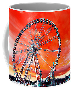 Paris Ferris Wheel Pop Art 2012 Coffee Mug