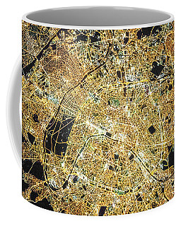 Coffee Mug featuring the photograph Paris From Space by Delphimages Photo Creations