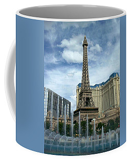 Paris Hotel And Bellagio Fountains Coffee Mug