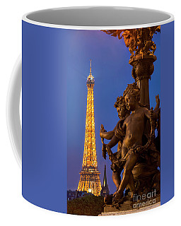 Paris Lamppost And Eiffel Coffee Mug by Brian Jannsen
