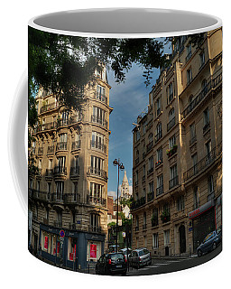 Coffee Mug featuring the photograph Paris - Montmartre Streetscape 003 by Lance Vaughn