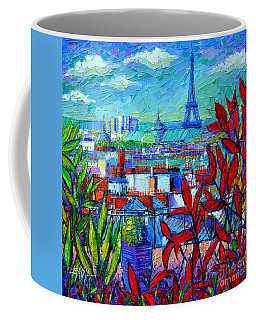 Paris Rooftops - View From Printemps Terrace   Coffee Mug