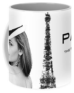 Coffee Mug featuring the digital art Paris The Fashion Capital by ISAW Company