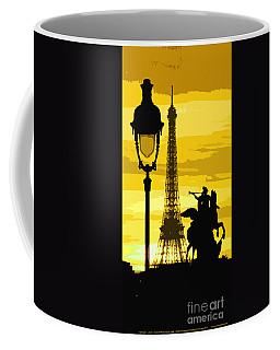Paris Tour Eiffel Yellow Coffee Mug