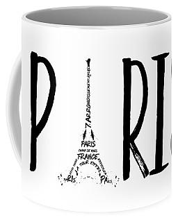 Paris Typography Coffee Mug