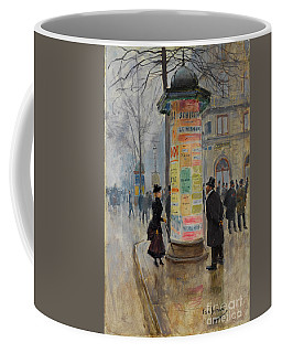 Parisian Street Scene Coffee Mug by John Stephens