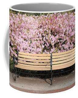 Park Bench And Azaleas Coffee Mug