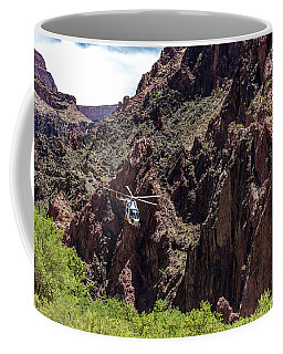 Park Service Helicopter In The Grand Canyon  Coffee Mug