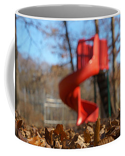 Coffee Mug featuring the pyrography Park Slide by Greg Collins