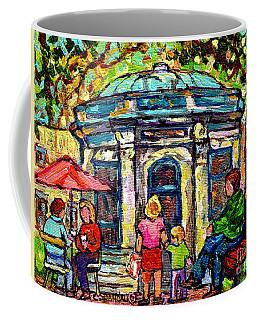 Park St Louis Square Cafe Kiosk Painting St Denis Prince Arthur Plateau Mont Royal Art C Spandau     Coffee Mug