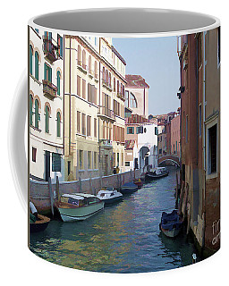 Coffee Mug featuring the photograph Parked In Venice by Roberta Byram