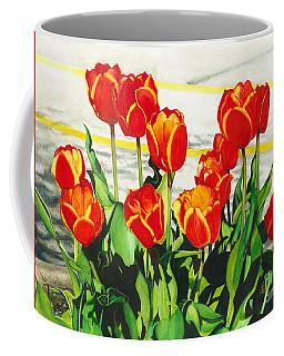 Parking Lot Tulips Coffee Mug