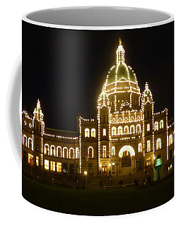 Parliament Building At Night - Victoria British Columbia Coffee Mug