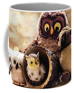 Parliament Of Owls Coffee Mug by Martina Fagan