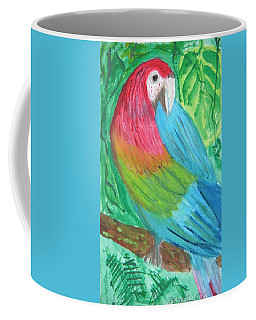 Coffee Mug featuring the painting Parrot At Sundy House by Donna Walsh